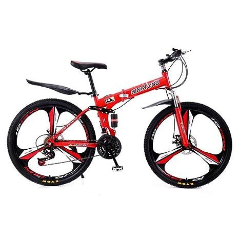 ANJING Bicicleta de Montaña Plegable de 24 Pulgadas para Adultos ...