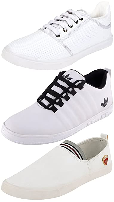 067d6193ed5c8e Ethics Perfect Combo Pack of 3 Stylish White Sneaker Shoes for Men: Buy  Online at Low Prices in India - Amazon.in