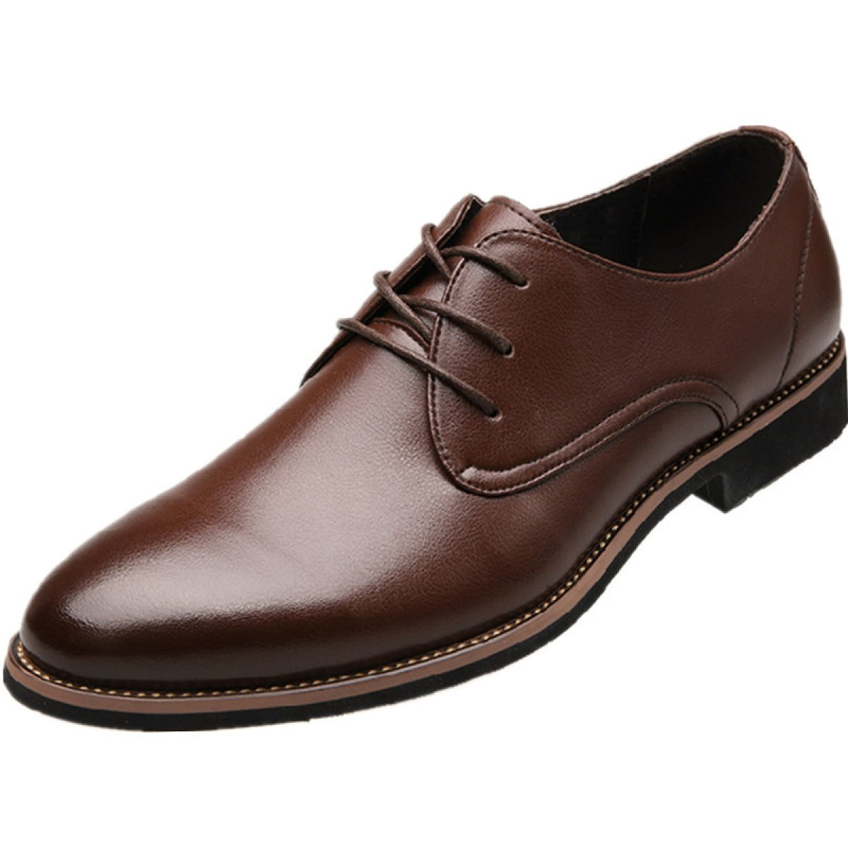 Zapatos De Vestir Con Cordones De Negocios Para Hombre Casual Wedding Pointed Toe Oxfords GTYMFHcompany