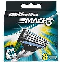 Gillette Mach 3 Cargador Recambios Maquinilla - 8 Piezas