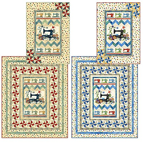 - Sew Happy Again Quilt Pattern, Lap (60 by 74 inches) and Wall Hanging (36 by 51 inches), Quilt Pattern PTN 2251