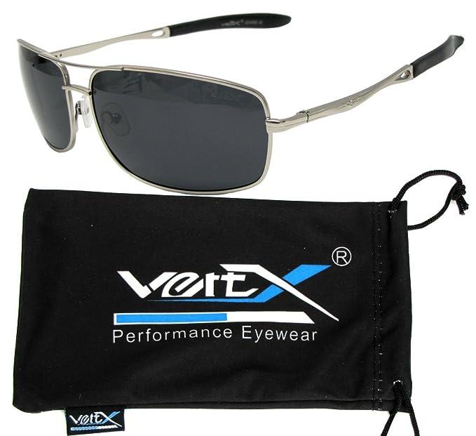 VertX hombres polarizan bisagra Metal Aviator gafas de sol primavera Pesca Golf conducción al aire libre