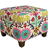 Skyline Furniture Santa Maria Desert Flower Nail Button Ottoman