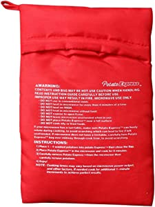 Ehoter Microwave Potato Cooker Dropbyy Reusable Microwave Bag for Potato Express Pouch Cooking In Just 4 Minutes Red Without Package 25g