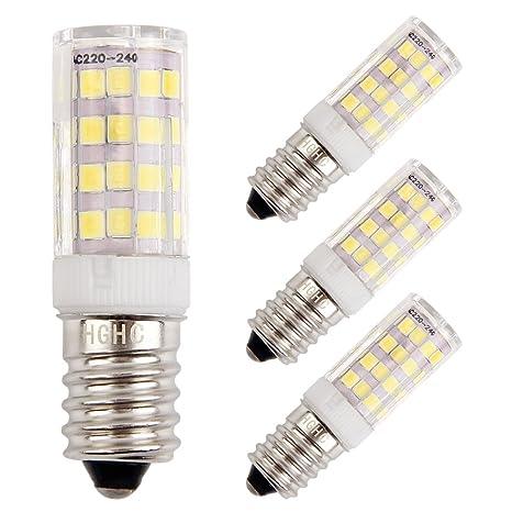 Bomnilla LED E14 5W Equivalente 35W incandescente bombillas, 6000K blanco frío 400LM AC220V, Lámpara