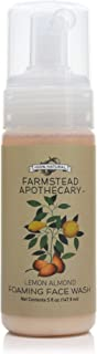 product image for Farmstead Apothecary 100% Natural Foaming Face Wash with Organic Jojoba Oil, 5 oz (Lemon Almond)