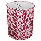 Hardback Linen Drum Cylinder Lamp Shade 8'' x 8'' x 8'' Spider Construction [ Red Holy Trinity ]