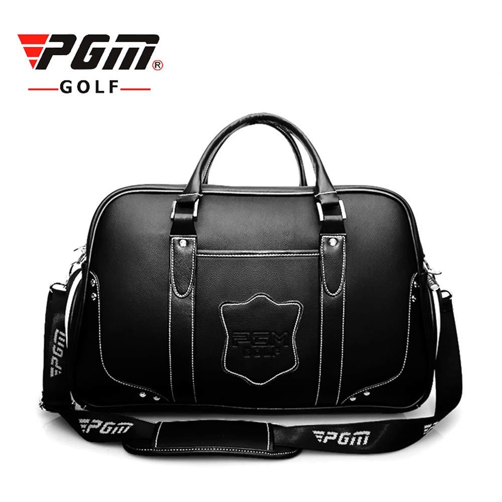 屋外のためのゴルフバッグ二重層の本革の防水高容量 B07P7HR1W1
