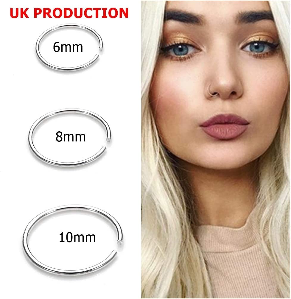 Ideals Uk Seller Small Silver Rose Gold Nose Ring Hoop Extra Small