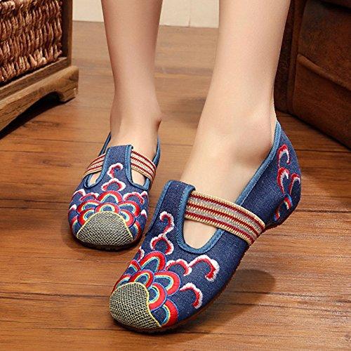 Casual Damen Stickerei Waves Frauen NGRDX Die blue Frühling Schuhe Der Frauen Sneaker amp;G Frauen qzII56wg