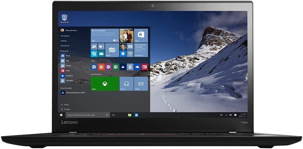 "Lenovo Thinkpad T460s Ultrabook Laptop (20F9-S20T00) Intel Core i5-6200U, 8GB RAM, 256GB SSD, 14"" FHD Multitouch, Win10 Pro64"