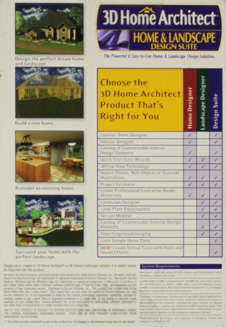 Amazon.com: 3DHOME Architect Design Suite 8 By Encore Software