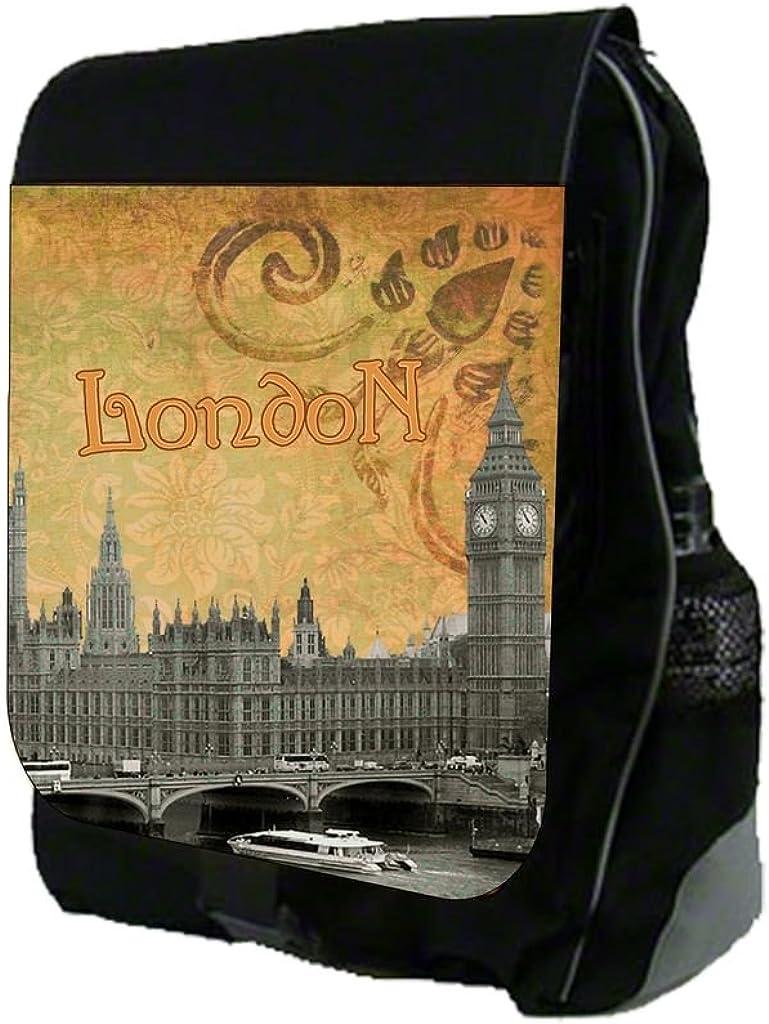 Vintage London Big Ben Print Design TM School Backpack