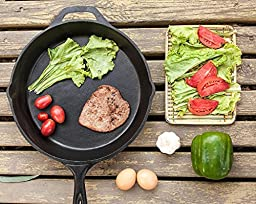 Pre-Seasoned Cast-Iron Skillet, 10.25 inch - Utopia Kitchen