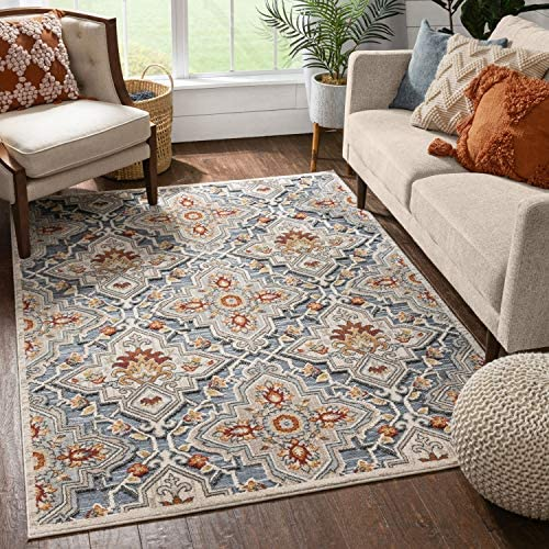 Well Woven Alta Multi Beige Grey Flat-Weave Hi-Low Pile Area Rug 8×10 7'10″ x 9'10″