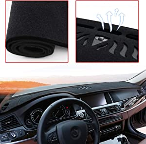 Muchkey Custom Dash Board Cover Mat for Buick Encore 2017-2021 Carpet Dashboard Cover Protector Easy Installation Black
