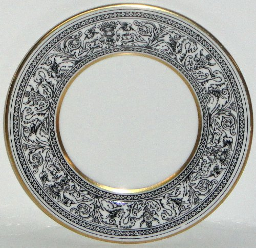 - Wedgwood Florentine-Black Outlined Dragons Bread & Butter Plate
