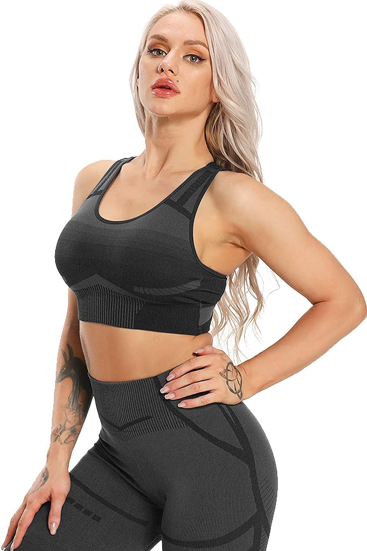 STARBILD Donna Reggiseno Sportivo Senza Cinturino Senza Ferretto con Imbottito Removibile Yoga Fitness