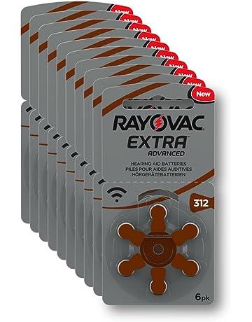 Rayovac Extra Advanced - Pilas de audífono Zinc Aire A312/PR41, Pack de 60