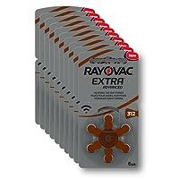 Rayovac Extra Advanced Zink Luft Hörgerätebatterie (in der Größe 312er Pack, mit 60 Batterien, geeignet für Hörgeräte Hörhilfen Hörverstärker) braun
