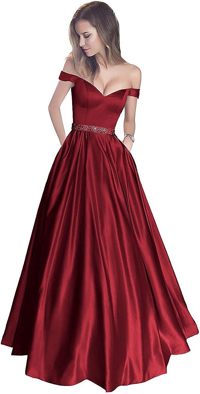 Callmelady Abendkleider Elegant für Hochzeit Lang Ballkleider
