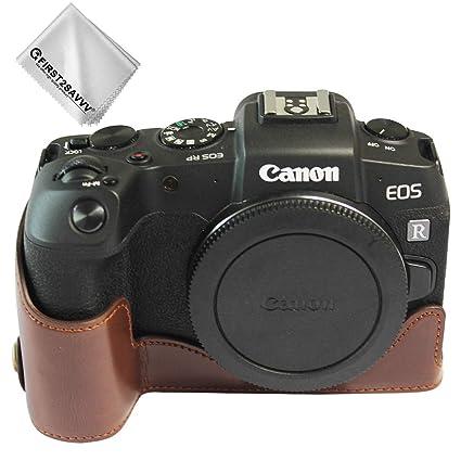 Marron Oscuro Funda cámara Cuero de la PU cámara Digital Bolsa ...