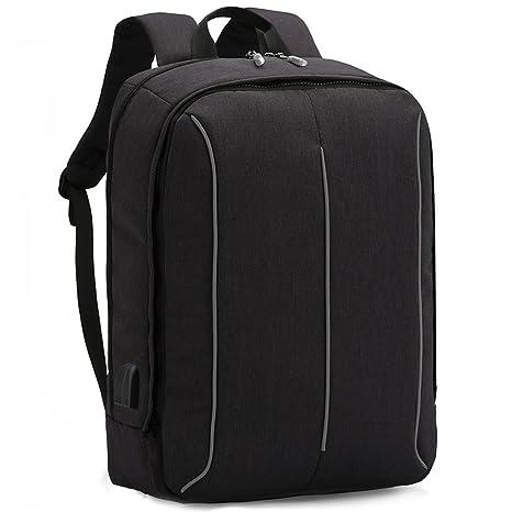 XQXA Mochila Portátil Impermeable Backpack para Ordenador hasta 17 Pulgadas con Puerto de Carga Externa USB