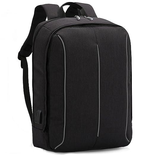 XQXA Mochila Portátil Impermeable Backpack para Ordenador hasta 17 Pulgadas con Puerto de Carga Externa USB para Negocio,Viajar: Amazon.es: Electrónica