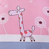 Zehui Adorable Dandelion and Giraffe Print Duvet