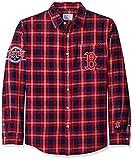 FOCO MLB Los Angeles Angels Mens MLB Mens Wordmark Flannel Shirt