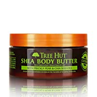 Tree Hut 24 Hour Intense Hydrating Shea Body Butter Pear & Chia Seed, 7oz, Hydrating...