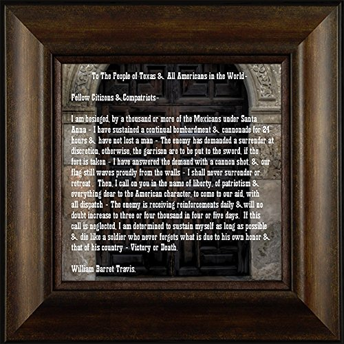 Victory or Death By Todd Thunstedt 20x20 Patriotic American Texas Alamo Hero William Barrett Travis Letter Dallas San Antonio Austin Cowboys Texans Framed Art Print Wall Décor - San Of In Alamo Antonio Pictures The Texas