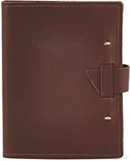 product image for Top Grain Leather Beer Tasting Log Book/Dossier With Templated Pages (Saddle)