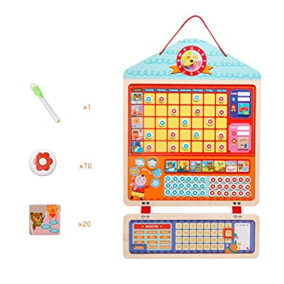 BELUPAI Magnetic Responsibility Chart for Kids, Reward Behavior Chore Table Cartoon Growth Self-Discipline Early Educational Developmental Toys for Kindergarten Toddlers: Baby