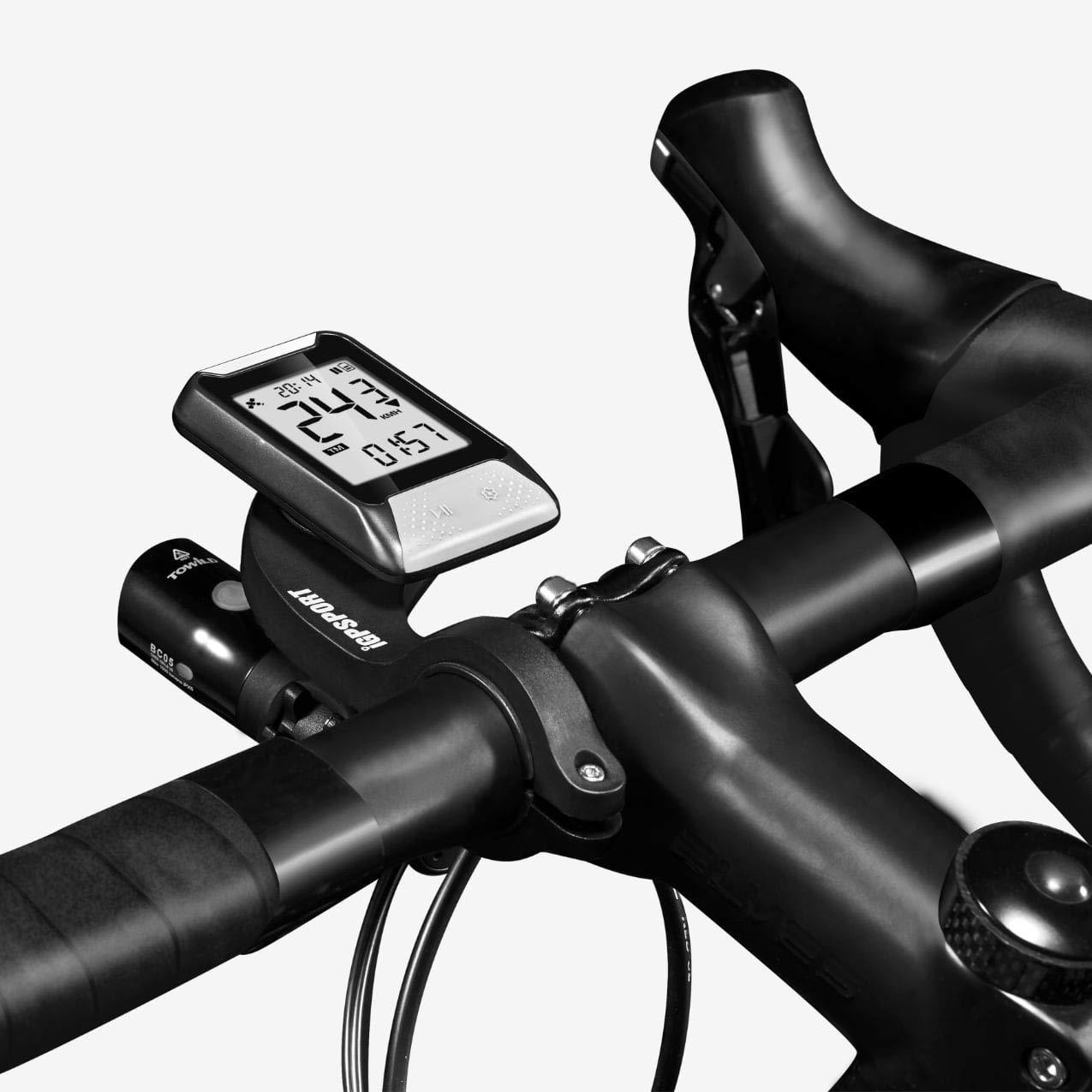 Compteur de V/élo GPS Simplifi/é Vitesse odom/ètre IPX7 r/étro/éclair/é Cardio Nouveau iGS20E iGS130
