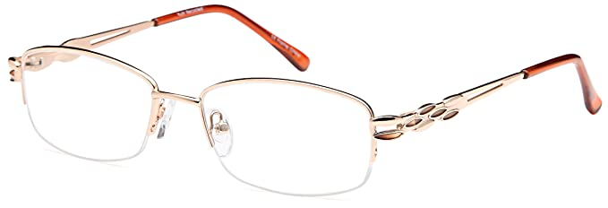 f749bc02c8ae DALIX Womens Enchanting Glasses Frames Reading Specs 53-17-135 (Rose Gold)