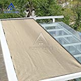 Alion Home Lock-stitch Knitted UV Sun Block Shade Cloth, Patio Cover Screen. Banha Beige (10'x 12')