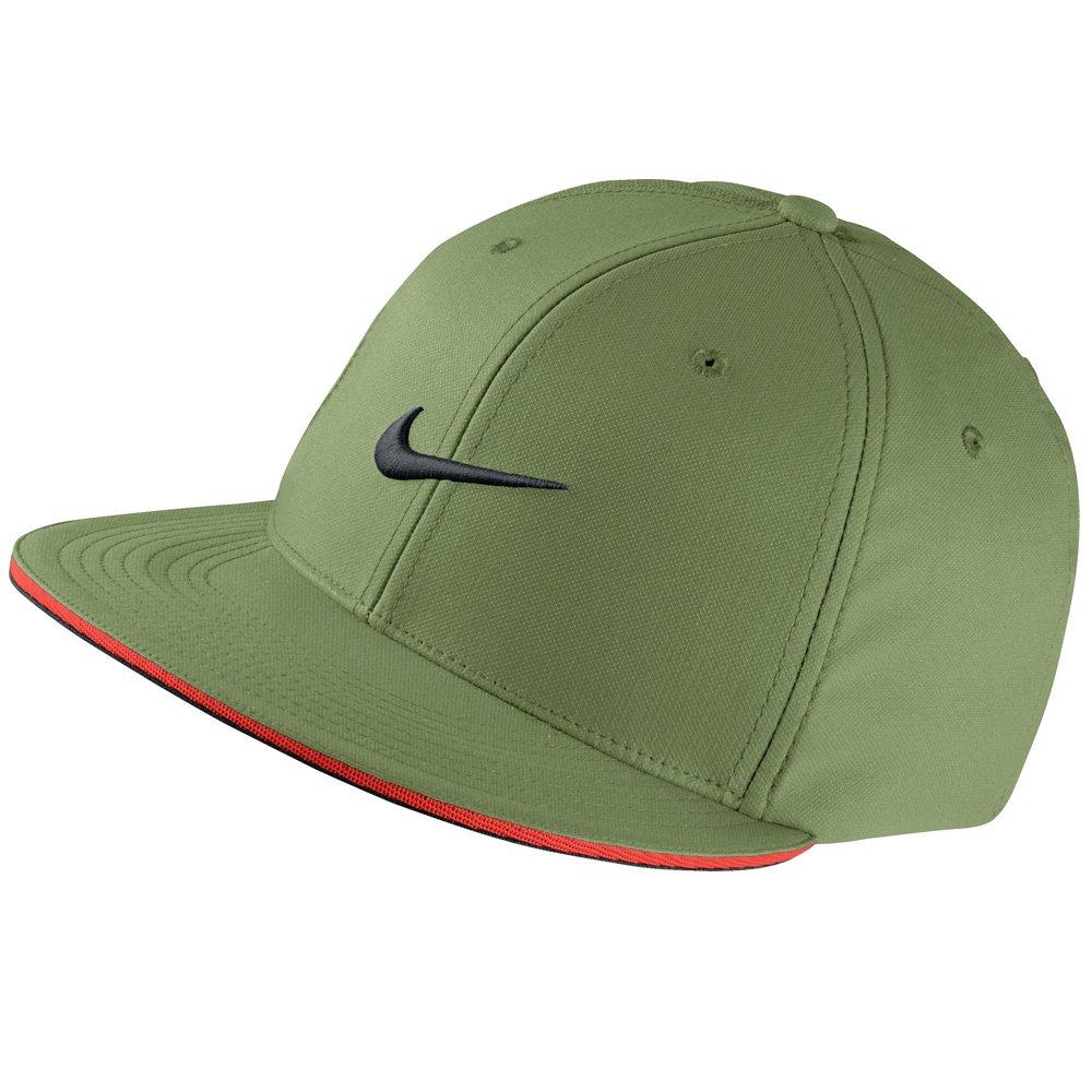 NIKE Unisex True Statement Golf Hat, Palm Green/Max Orange/Black, Small/Medium
