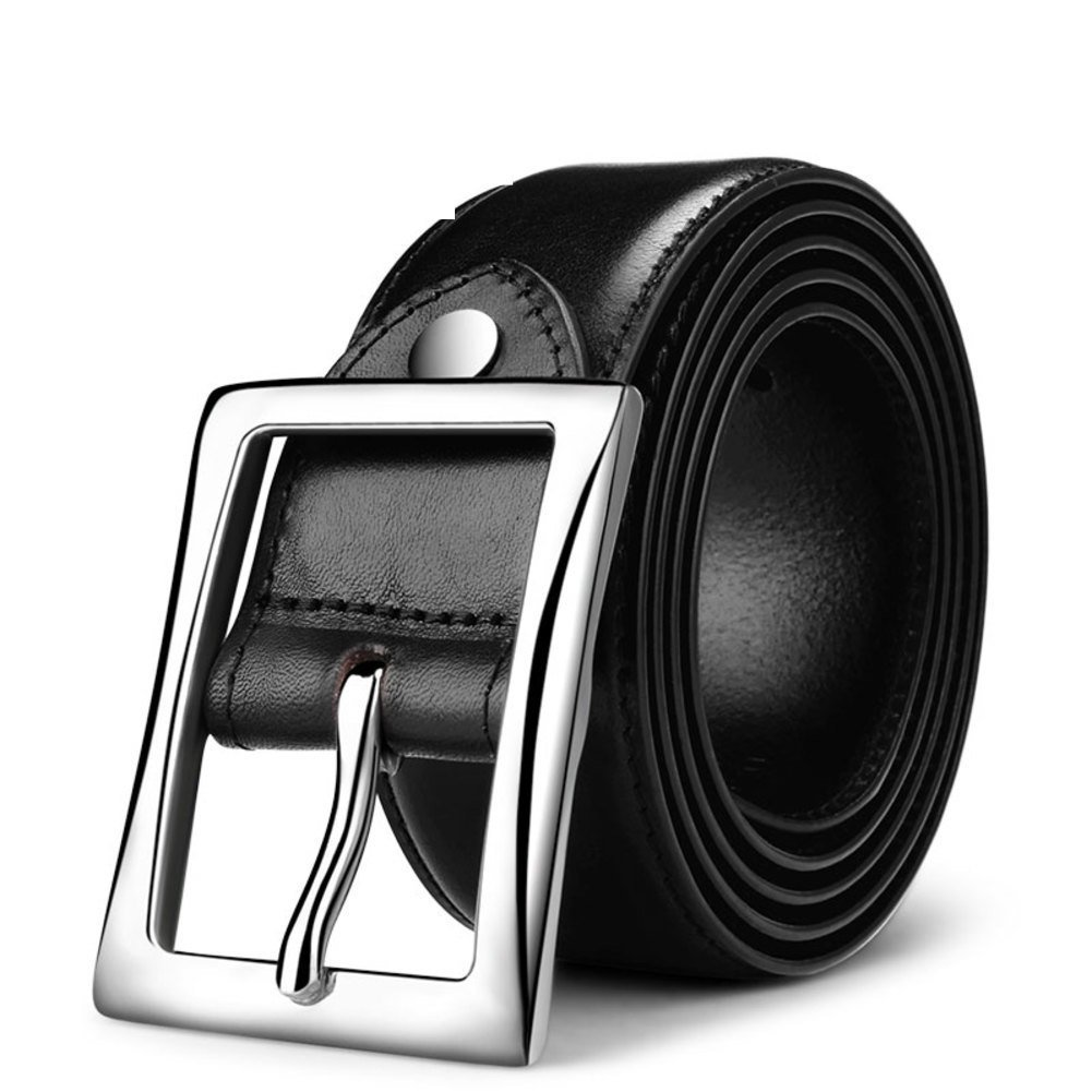 Male leather head belt/casual business belt-B One Size