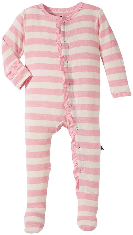Kickee Pants Baby Girls' Essentials Print Ruffle Footie Prd-kprf908-els