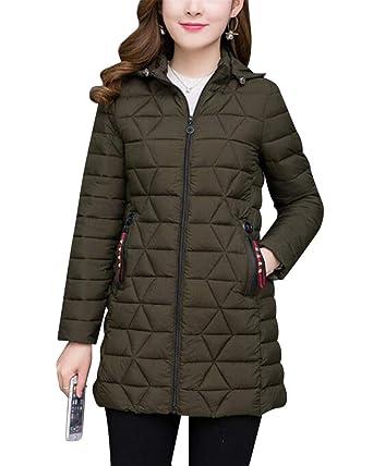 MISSMAO Damen Warm Slim Fit Mantel Wintermantel Winterjacke