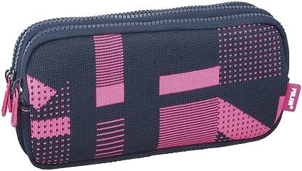 Portatodo Triple Milan Knit Pink: Amazon.es: Oficina y papelería
