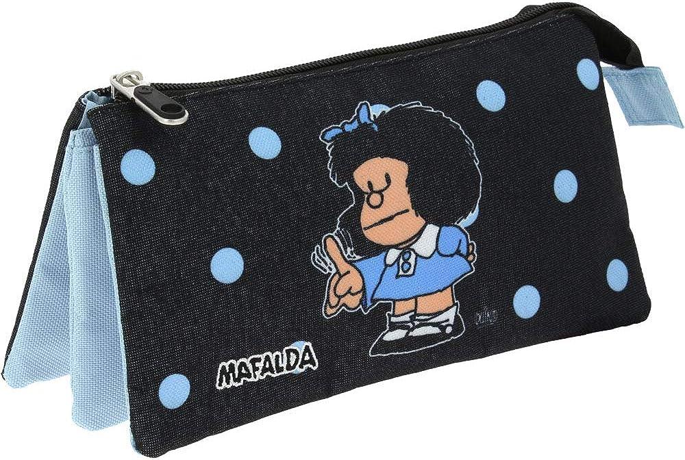 Mafalda Estuche Lunares, Cartera para Niñas, Azul (37540672), 14x22.5x12 cm (W x H x L): Amazon.es: Zapatos y complementos