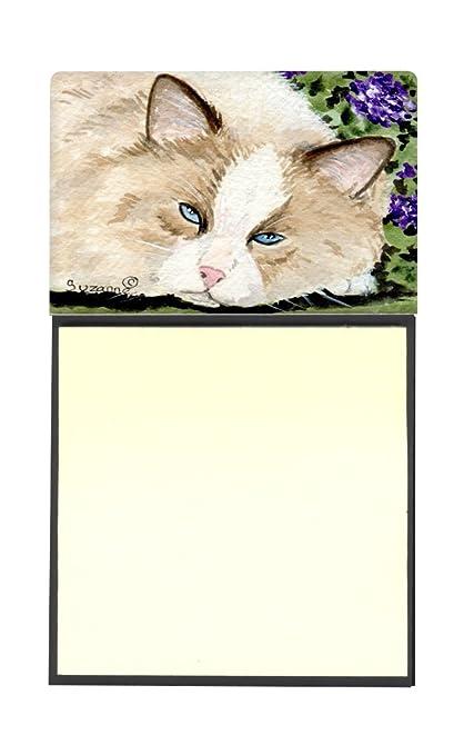 Caroline tesoros del SS8825SN Cat rellenable titular o de notas adhesivas dispensador de Postit Note,