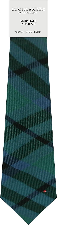 Gents Neck Tie Marshall Ancient Tartan Lightweight Scottish Clan Tie