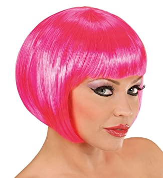 Shoperama Damen Perucke Bob Pagenkopf Flamingo Can Can Showgirl