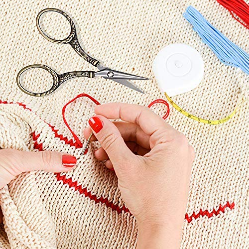 BUTUZE Sharp Tip Embroidery Scissors, Fashionable 4.33Inch Small Metal Scissors with Comfortable Grip, Needlework Supplies for Needlework,Sewing,Art Work,Embroidery,Cutting