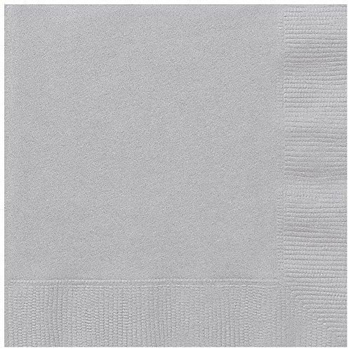 Silver Paper Napkins, 50ct ()