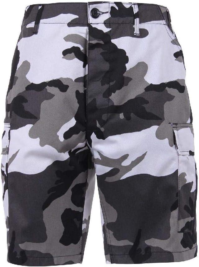 City Camo Military BDU Button Fly Cargo Shorts