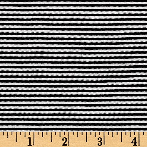 (Lavitex, Inc Pin Stripe Jersey Knit Fabric Black/White Fabric by the)